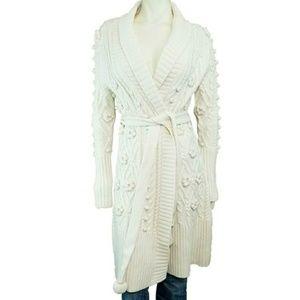 Ports 1961 Merino Wool Thick Cardigan Sweater Coat